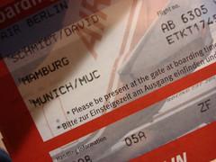 Boarding pass (individual8) Tags: germany airport october hamburg 2007 boardingpass dopplr:explore=15p1