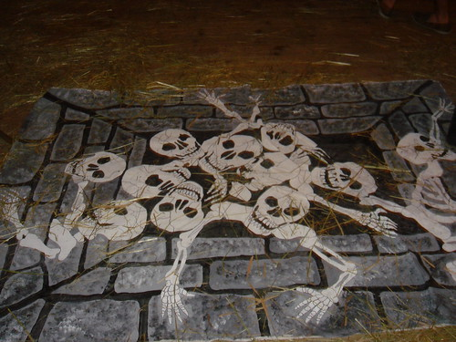 Skeleton Scary Floor Decoration Sincerely Yours Dena