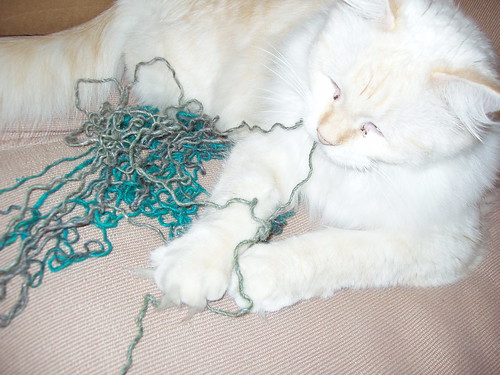 Don't eat the Silk Garden yarn!