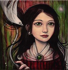 Ghost Bird Nebula (verpabunny) Tags: original painting artwork acrylic kellyvivanco