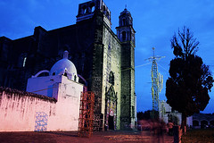 Church in Tochimilco at Night