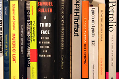Sara's Bookshelf (Donavan) Tags: canon sara books bookshelf filmschool 40d 1855is