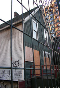 The historic townhouse at 1080 Richards in November 2007.