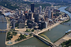 Pittsburgh Aerial Looking East (AVPHOTOGRAPHICS_PGH) Tags: park bridge river point photography pittsburgh state photos fort pennsylvania cities images aerial pitt monongahela avphotographicscom shutterrudder