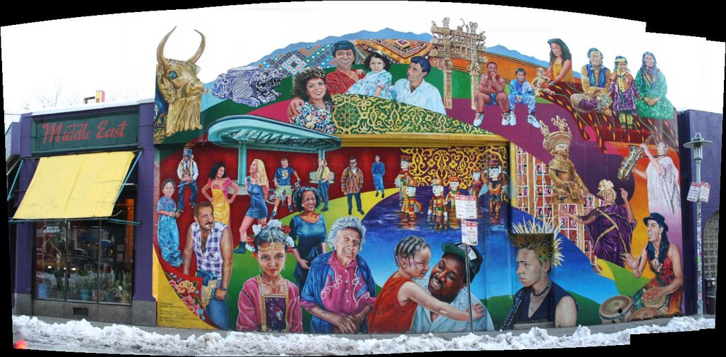 middle east restaurant mural