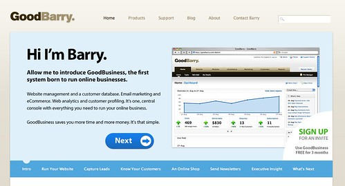 Goodbarry web page