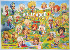Hollywood's Golden Age Ladies Today (2003) by Stephen B Whatley (Stephen B Whatley) Tags: newyork art dogs giant losangeles artist gorilla cardinal cartoon elvis canine hollywood carmel horror kingkong empirestatebuilding celebrities angora hollywoodsign mg