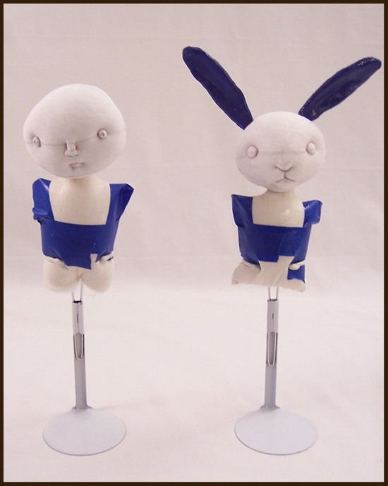 Squid Girl and  Bunny Doll WIP