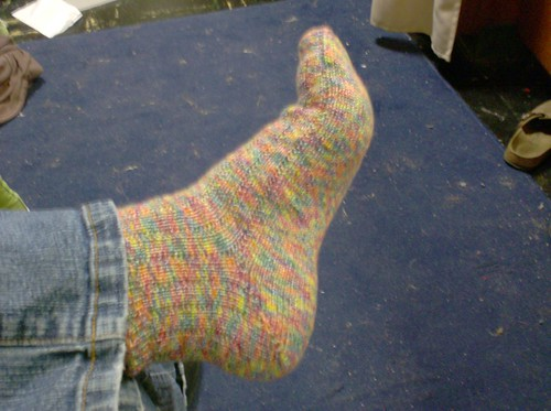 Regia Bamboo rainbow knitted socks