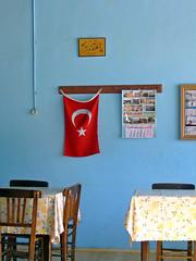 Turkey (Irene2727) Tags: blue turkey table island interestingness flag coffeeshop explore coffeehouse quaint singintheblues dardenelles tepekoy blueribbonphotography creativecomments turksihflag explorewinnersoftheworld gokçeada