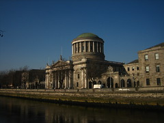 The Four Court on the banks of the Liffey.