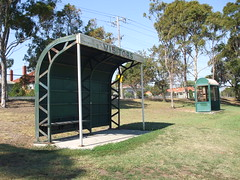Art Deco coach's shelter West Footscray - Side (WindscreenCam) Tags: west art football box au australia victoria vic artdeco deco coaches footscray wrfl westfootscray localfootball localfooty