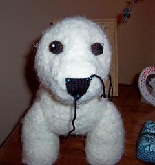 Knitted Westie Pup (in progress)