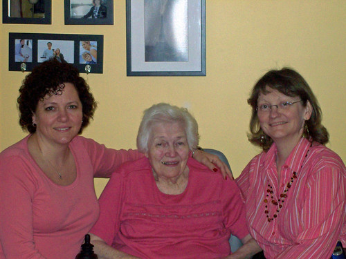 Three generations in a hug