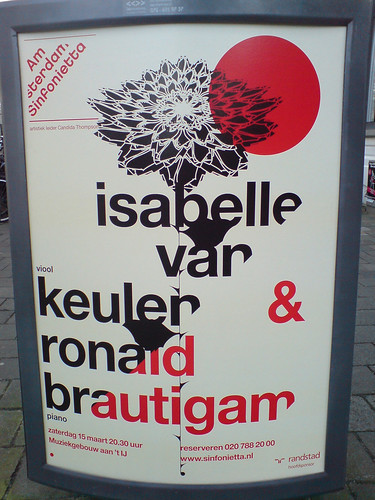 poster in the city of Amsterdam: isabelle van keulen & ronald brautigam / Jarr Geerligs