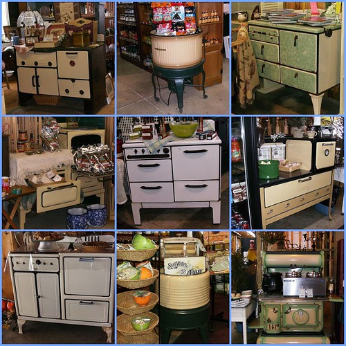 Antique Stoves and Washers