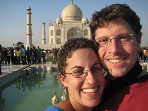 We're at the Taj Mahal!