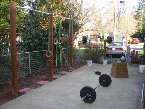 Backyard Gymnastics Bars : Diyoutdoor Gym Jpg 600, Garage Gym Ideas, Backyard Gym, Home Gym, Gym