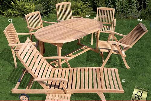 Muebles De Jardin Y Balcon De Madera Fsc De Bauhaus Clau El