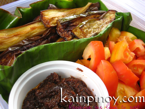 Kamatis, Talong at Bagoong  - Pinoy Bento for Lasang Pinoy Challenge #25