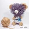 Minu (knitting dreams) Tags: bear toys japanese teddy fuzzy handmade crochet felt plush kawaii blythe etsy amigurumi zakka lati あみぐるみ knittingdreams