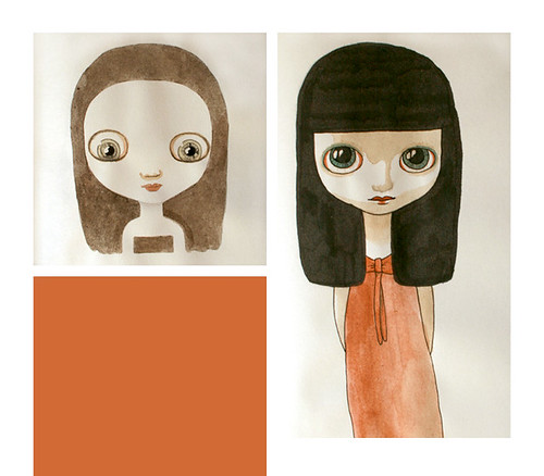 Illustration de Laure Pointereau - Dolls