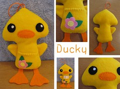 ducky (shiro_ko) Tags: bird toy toys duck sewing plushie