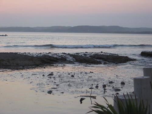 Water breaches the beachfront in La Manzanilla