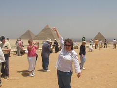 Erika holding a Pyramid