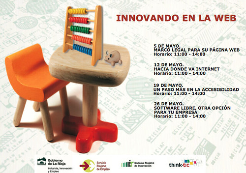 Imagen de la portada del folleto anunciador del ciclo 'Innovando en la web'