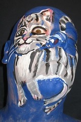 #29. Puss Puss! (hawhawjames) Tags: gay portrait selfportrait chicago cute art me strange face cat self painting facepainting kitten feline funny paint artist body painted pussy kitty bodypaint freak meow bodypainting 365 facepaint queer puss hiss kittycat snazaroo 365days kryolan