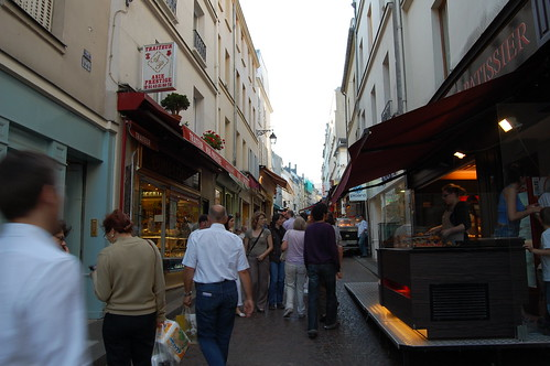 Rue Mouffetard Food Market in Paris