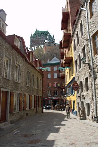 vue sur le chateau de Frontenac