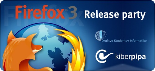 Firefox 3 release party banner in Slovenia