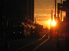 Sunset (historygradguy (jobhunting)) Tags: light sunset orange sun boston train ma publictransit publictransportation massachusetts tracks newengland mbta masstransit thumbsup mass bigmomma challengeyouwinner aplusphoto thumbsupwinner