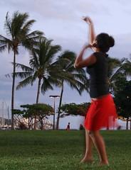 Hula Dancer at Ala Moana Park (k.baillie) Tags: park hawaii hula culture dancer ala moana alamoana polynesian