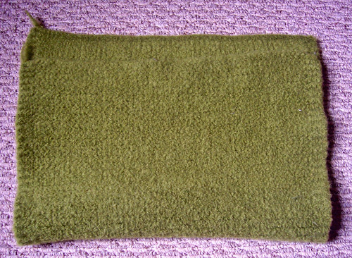 "Knitted felted ""fabric"""