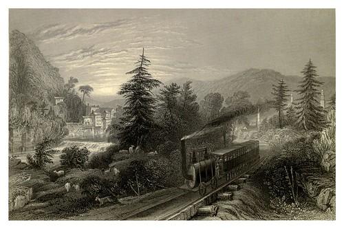 019-Vista del ferrocarril a Utica en el valle de Mohawk 1840