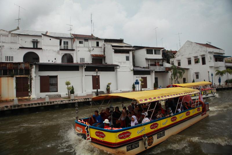 馬六甲河上的遊艇