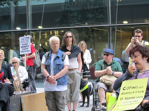 Protestors at Triton Sq
