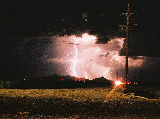 Lightning Storm Aesthetic Debris Tags Desert Thunder