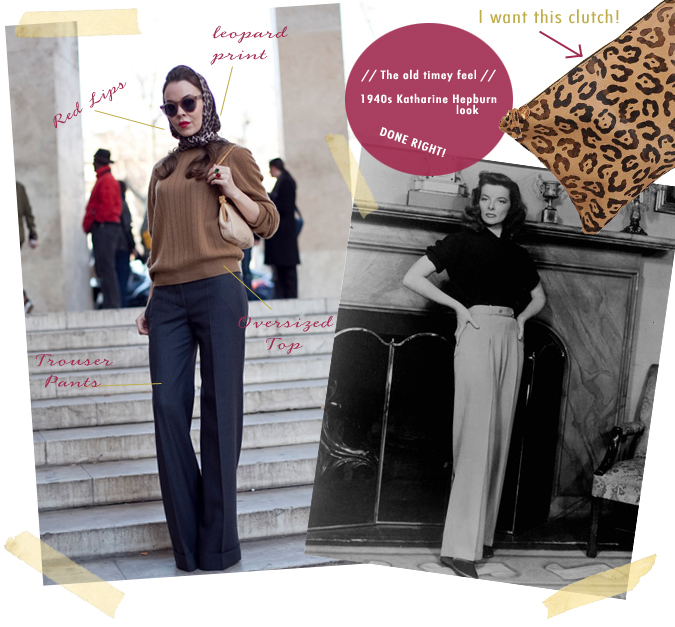 Katharine Hepburn Outfit Inspirations