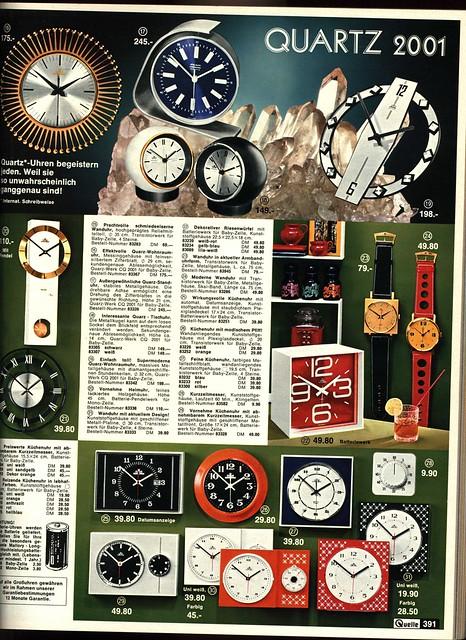 1972 Quelle 391 Uhren