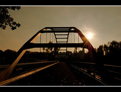 Bridge in the sunlight (Andrea&Mike@Flickr) Tags: bridge sun sunlight nikon brcke sonne soe silhoutte gegenlicht underexposure sonnenlicht supershot directsun mywinners mywinner abigfave shieldofexcellence 3ev nikond40 unterbelichtung superhearts