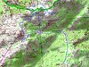 Carte de la Cagne Ouest avec Naseu (Naseo), la plaine d'Uovacce (Ovace) et Bocca di Monaco