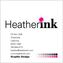 Heather Ink preliminary business card