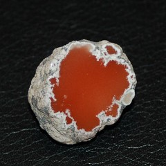 Stunning bright red datolite (Finns Rocks) Tags: red rock nikon rocks michigan nikond50 mineral lapidary catchycolorsred datolite
