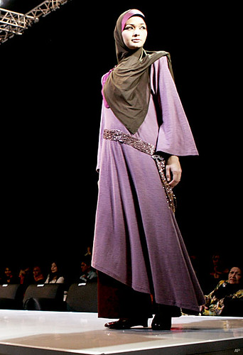Purple Moslem Dress in New Fashion