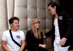 Tuan Lam, Vanessa Rousso, and Scotty Nguyen at the APPT Macau Press Conference