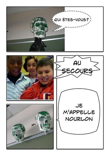 Bande dessinée faite avec notre prof
